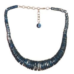 Collana Regina Blu Argento