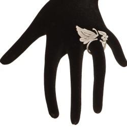 Anello piatto farfalla