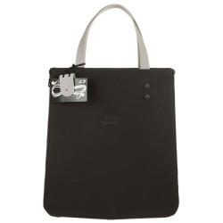 Shopping verticale nero e grigio