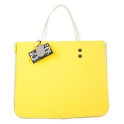 Shopping orizzontale giallo e bianco