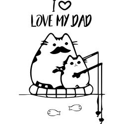 T-Shirt Uomo love dad cats