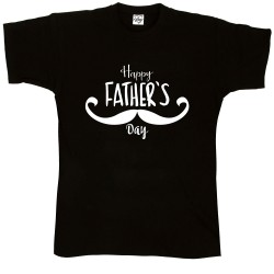 T-Shirt Uomo Happy Father baffi