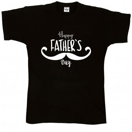 T-Shirt Uomo Happy Father baffi