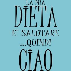 T-Shirt Donna La mia dieta...