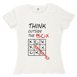T-Shirt Donna Think outside...