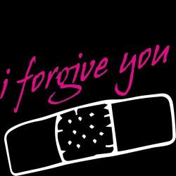 T-Shirt nera Donna I forgive...