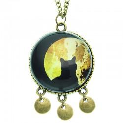 Collana 30mm Gatto Luna