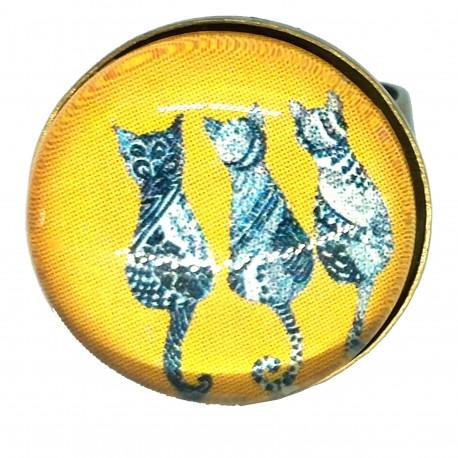 Anello 18mm Gatto Tris