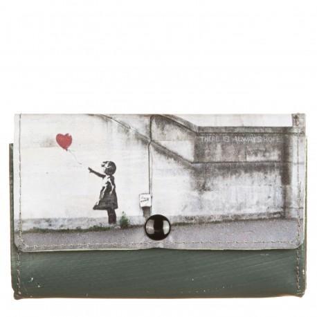 Portafoglio patellato piccolo Banksy