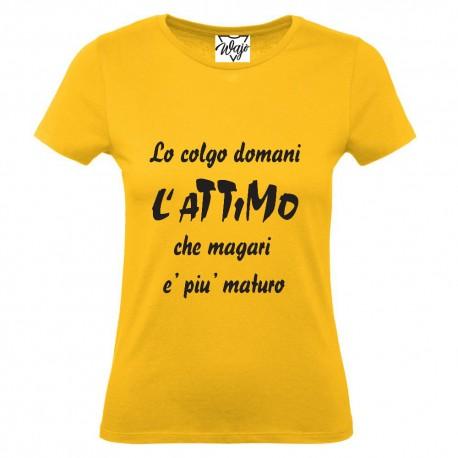 T-Shirt Donna Lo colgo domani...
