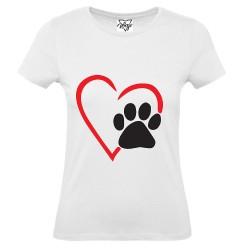 T-Shirt Donna cuore e orma