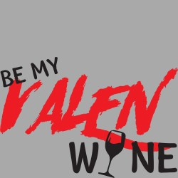 T-Shirt Uomo Be my valen...wine