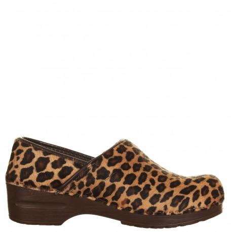 Clogs cavallino leopardo