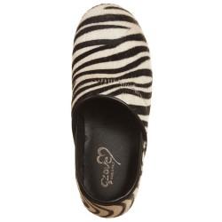 Clogs cavallino zebrato