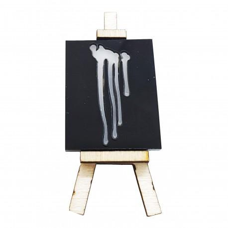 Spilla cavalletto pittura