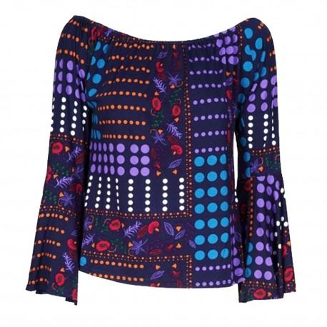 Maglietta con pois multicolor