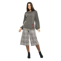 Pantaloni capri scozzesi