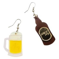 Orecchini asimmetrici birra