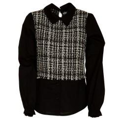 Casacca tweed con colletto