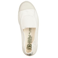 Slip-on NATURAL WORLD bianco