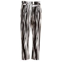 Pantaloni in raso a righe