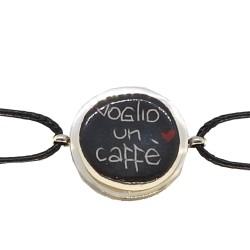 Bracciale stringa Voglio un caffè