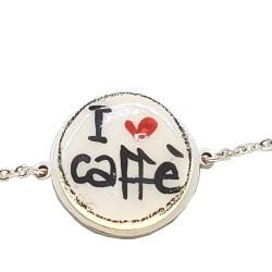 Bracciale catenella I Love caffè