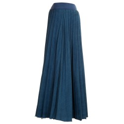Gonnellone jeans plissé