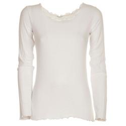 Maglietta a coste bianco