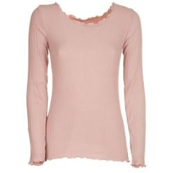 Maglietta a coste rosa