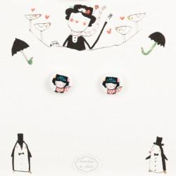 Mini-Orecchini a lobo Mary Poppins