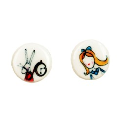 Mini-orecchini a lobo Alice nel Paese d....