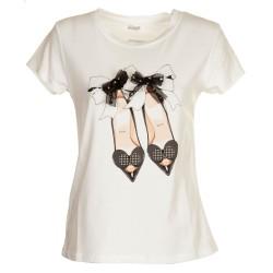 T-Shirt ballerine cuore e fiocco