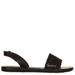 Sandali intrecciati nero