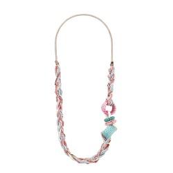 Collana Caledonia rosa e turchese