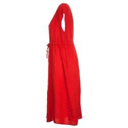 Vestito in lino con coulisse