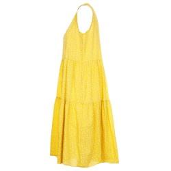 Abito largo giallo a fiorellini