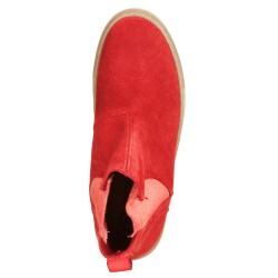 Ankle Boots con elastico Rosso