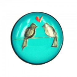 Bracciale uccellini azzurro