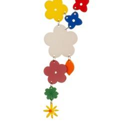 Collana lunga fiori multicolor
