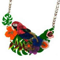 Collana pappagallo su ramo