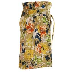 Shorts arricciati, con stampa multicolor