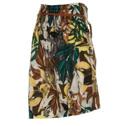 Shorts stampa fogle verde e tabacco