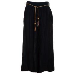 Pantaloni capri larghi lino