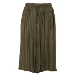 Pantaloni capri larghi rigati