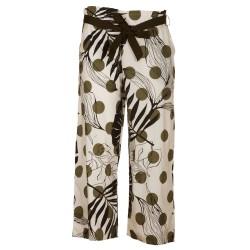 Pantaloni larghi stampa fiori