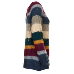 Maglione con righe multicolor