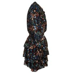 Miniabito in crepe a fiori blu