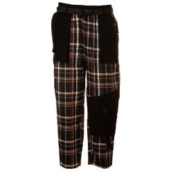 Pantaloni tartan con tasconi