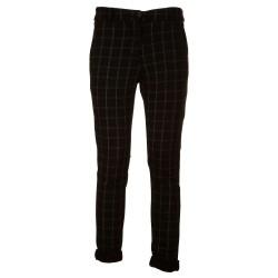 Pantaloni elasticizzati a quadri
